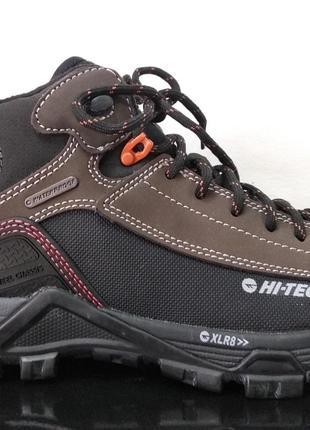 Трекинговые кожаные ботинки hi-tec c мембраной 39 р.