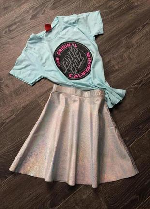 Кожаная юбка хамелеон american apparel