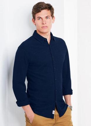 Трикотажная рубашка от tchibo! ворот 41-42
