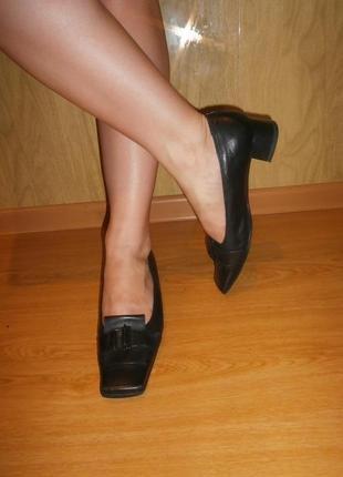 Закрытые туфли/нат.кожа/25,5см,/низкий ход