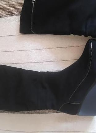 Зимние кожаные замшевые сапоги reliss 38 р