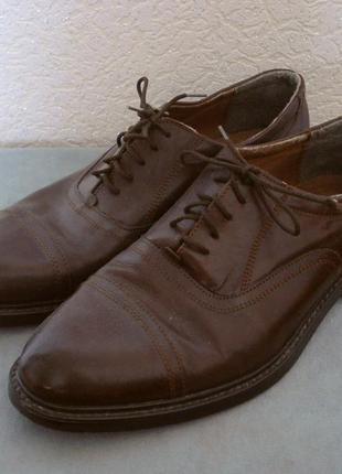 Кожаные мужские коричневые туфли