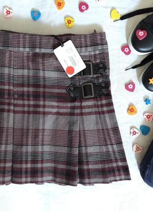-50% школьная плиссированная юбка от geox на рост 116см