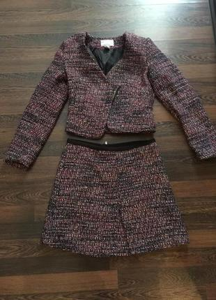 Костюм пиджак  с юбкой