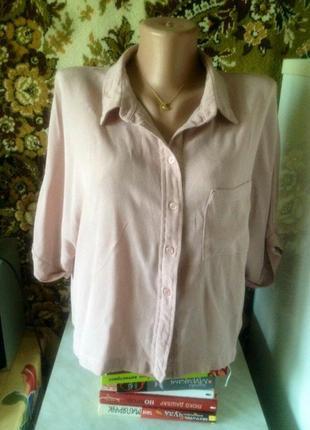 Пудровая блуза из 100% вискозы topshop