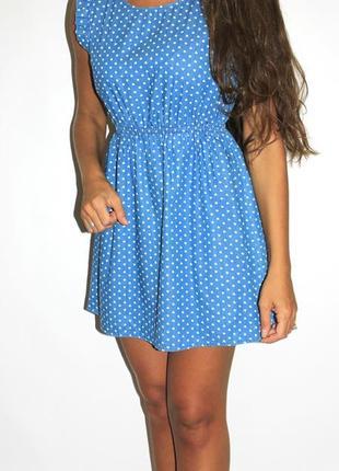 Джинсовое платье в ^ сердечках ^  -- большой выбор платьев --1