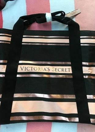 Оригинал шоппер пляжная сумка большая victoria secret сумки виктория сикрет