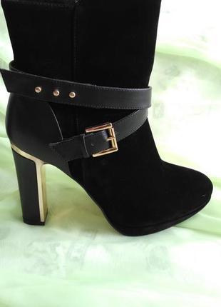 Ботинки centro - ботильйоны  на каблуках, ботиночки, женская обувь + подарок