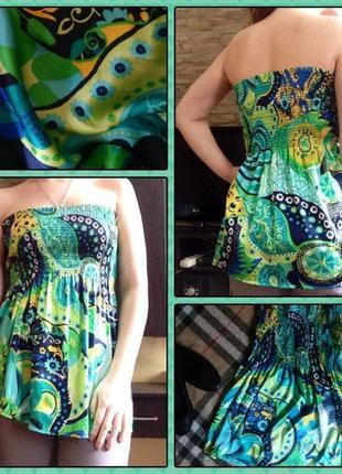 Супер крута майка-блуза без бретельок відомої фірми zara