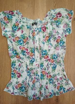 Блуза цветочный принт atmosphere