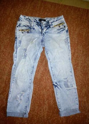 Укороченные джинсы1 фото