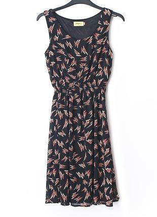 Легкое платье с молниями • р-р  xs-s