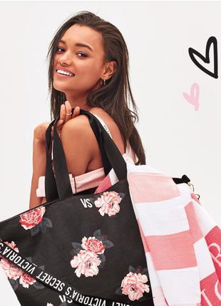 Victoria's secret. пляжная сумка, шоппер на молнии викториас сикрет (виктория сикрет)