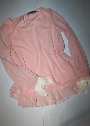Пудровая нежная блузка размер 12