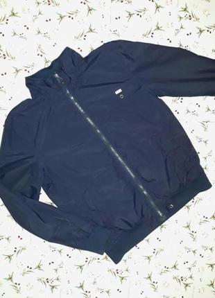 Куртка бомбер синего цвета, размер 48-50