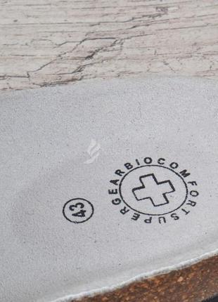 Сабо super gear венгрия ортопедические кожаная стелька мужские шлепанцы5 фото