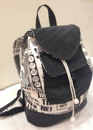 Ручная работа коттоновый рюкзак hand made