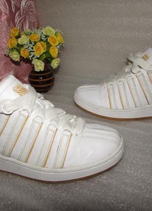 Прочные кроссовки натуральная кожа ~ k*swiss~ р 41