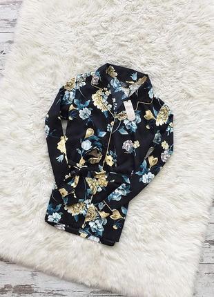Крутая рубашка-блуза  в бельевом стиле с поясом