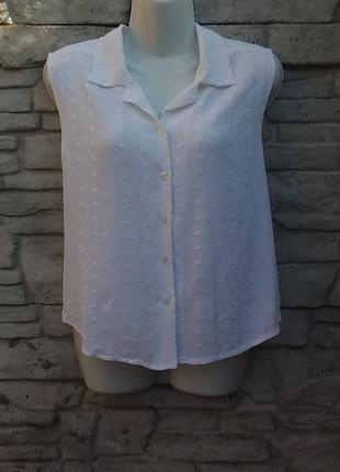 Распродажа!!!  красивая блуза белого цвета с вышивкой