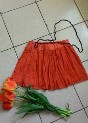 Плиссированная юбка в наличии