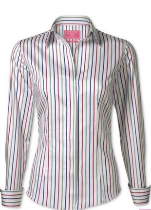 Стильная рубашка в цветную полоску р 50-52
