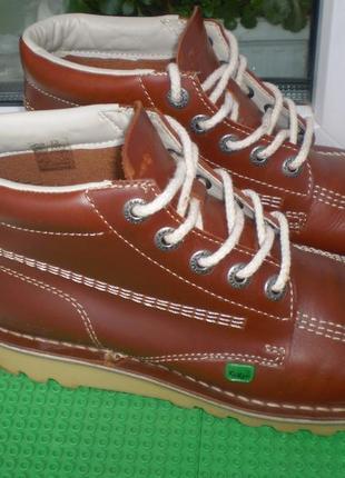 Демисезонные ботинки kickers р. 41 , стелька 26 см кожа сост.отличное