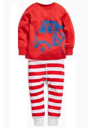 Новая трикотажная пижама  машины красная, next, 424/241