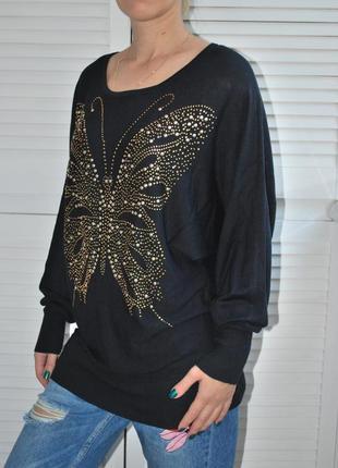 Туника-свитер с бабочкой м-л voulez vous