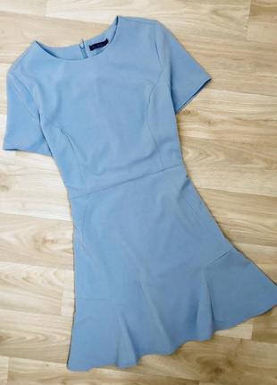 Голубое красивое платье футляр kira plastinina