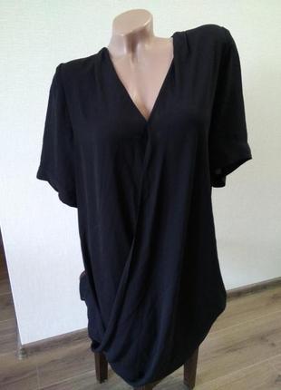 Платье платице сарафан размер 14 черное блуза, свободного покроя