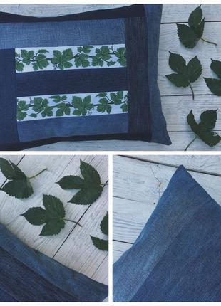 Hand made нежная подушка с растительными орнаментами