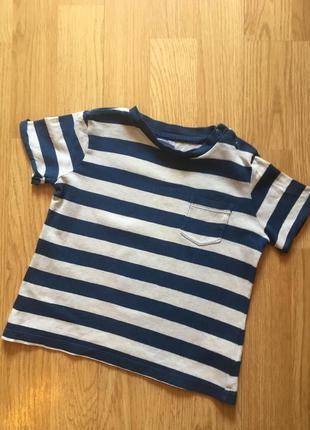 Красивая футболка для мальчика f&f, размер 18-24 м, 86-92
