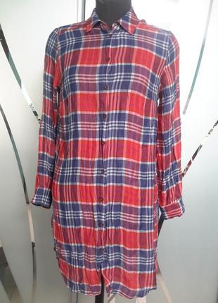Стильное платье/рубашка в клетку