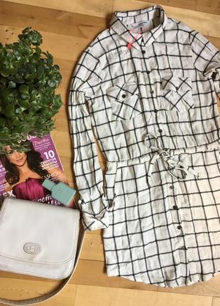 Платье-рубашка tally weijl. как новое!