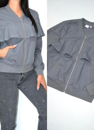 Куртка бомбер с воланом new york&company .