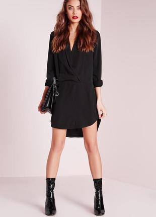 Асимметричное платье рубашка от missguided