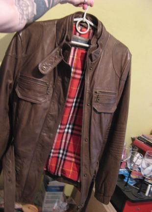 Куртка косуха кожаная next натуральная кожа размер 12 или м новая