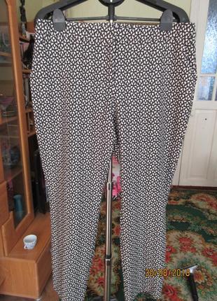 Классические брюки  зауженные к низу 16 р-ра