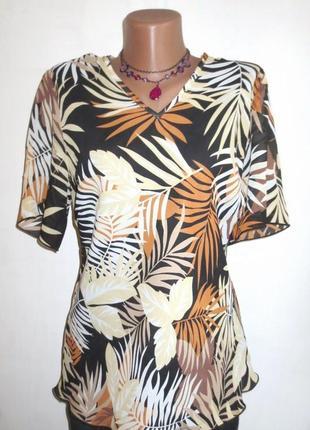 Стильная блуза с коротким рукавом от canda размер: 56-xxl