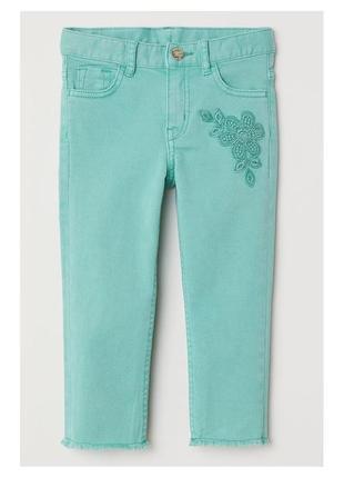 Новые брюки капри зеленая мята, h&m, 0574258