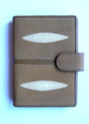 Документница- паспорт+карты,100% натур. кожа ската+телячья, доставка бесплатно