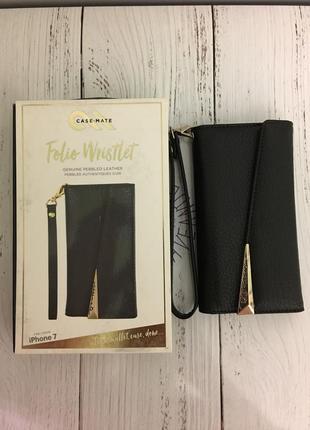 Чехол книжка кожаный casemate для iphone 6 6s 7 8   кожа 100%5 фото