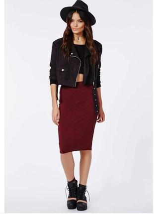 Новая трикотажная бордовая юбка на резинке, разные размеры и цвета.