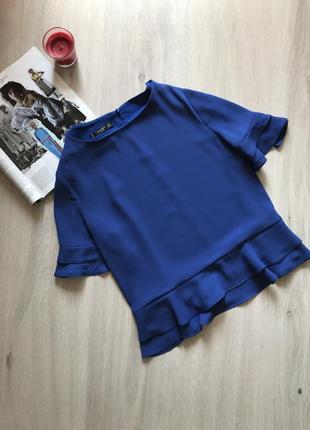 Красивая блуза с воланами mango