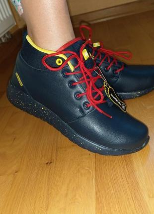 Зимние ботинки restime, натуральная кожа.