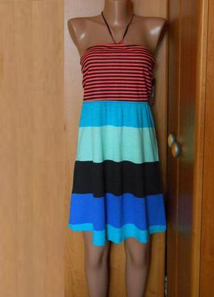 Фирменное пляжное платье бюстье р.46 м