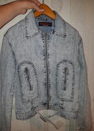 Джинсовая куртка на молнии пог50