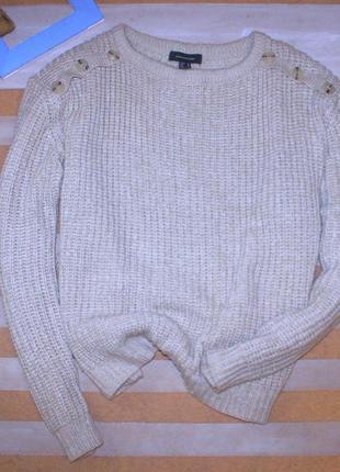 Очень классный базовый свитер из акрила большого размера