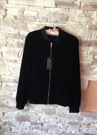 Куртка бомбер велюр от new look